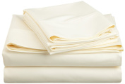 600 Thread Count Cotton Rich Full Ivory Sheet Set
