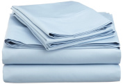 600 Thread Count Cotton Rich Full Light Blue Sheet Set
