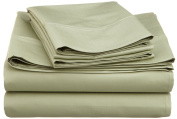 600 Thread Count Cotton Rich Full Sage Sheet Set