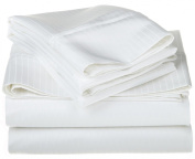 1000 Thread Count Egyptian Cotton Full White OVERSIZED Stripe Sheet Set