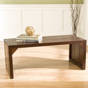 SEI Slatted Sitting Bench/Coffee Table - Blackened Espresso
