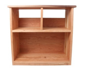 Camden Rose A Simple Bookcase, Cherry w/Walnut Accents, Two Shelves