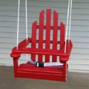 Childrens Adirondack Swing - Rope & Seat Belt Included - Weather Resistant Aspen Wood -41cm square x 50cm High - Made in USA