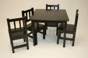 Kids Table and 4 Chairs(5pc) Set in Espresso