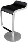 Control Brand BS-019-BLACK Elle Adjustable Height Stool