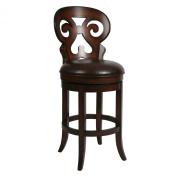 Pastel 80cm . Hermosa Swivel Bar Stool - Russet Cordovan