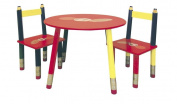 Kids Table 3-pc. Set - Red Table