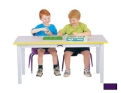 """LARGE RECTANGLE TABLE - 22"""" HIGH - PURPLE"""