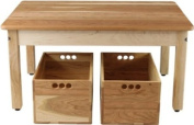 Cherry & Maple Child's Play Table with Two Cherry Storage Clubs