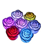 OEM 7 Colour Changing Rose Flower LED Light Night Candle Lamp Romantic