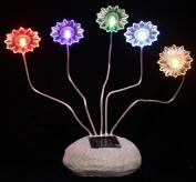 Outdoor Garden Decor Rock Solar Landscape Light 5 Colour LEDs