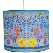Molly 'n Me Birds in Bloom Drum Shade Pendant Lamp
