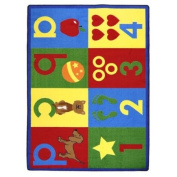 Kid Essentials Toddler Basics Primary Kids Rug Rug Size