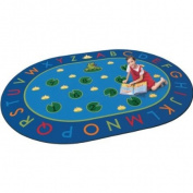 Hip Hop to the Top Classroom Rug - 6' 23cm x 9' 13cm Oval