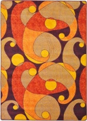 Kid Essentials - Teen Area Rugs Jazzy Orange/Purple