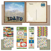 Scrapbook Customs Themed Paper and Stickers Scrapbook Kit, Idaho Vintage