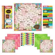 Scrapbook Customs Themed Paper and Stickers Scrapbook Kit, Kauai Paradise