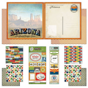 Scrapbook Customs Themed Paper and Stickers Scrapbook Kit, Arizona Vintage