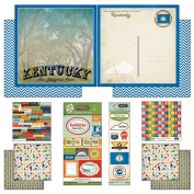Scrapbook Customs Themed Paper and Stickers Scrapbook Kit, Kentucky Vintage