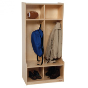Wood Designs 2 Section Locker - Natural