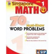 Frank Schaffer Publications FS-014011 70 Must Know Word Problems Level 1 Gr 1-2