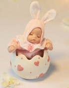 DUSIEC Christmas New Year Love Cart stuffed Porcelain Rabbit Shake Head baby Rabbit Music Box Wedding Gifts Birthday Gift Girls Ceramic Eggshell Pink