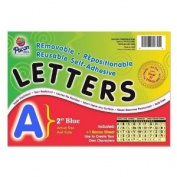 Pacon Coloured Self-Adhesive Removable Letters - 159 Character - 5.1cm  - Blue