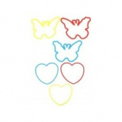 Bracelet-Sillycone Bandz-Hearts/Butterflies