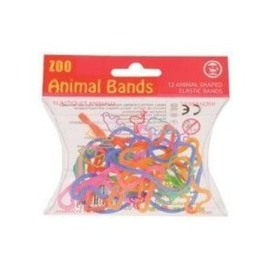 30 Packs of 12 Animal Shaped Rubber Bands: Zoo & Farm Set