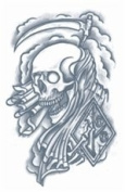 Reaper Prison Temporary Tattoo