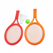 Como Children Play Game Orange Red Plastic Tennis Badminton Racket Toy Set