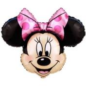 Lets Party By Party Destination Disney Minnie Mouse Head 70cm Jumbo Foil Balloon
