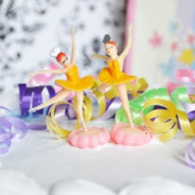 Ballerina Cake Topper (6 Count) - Yellow