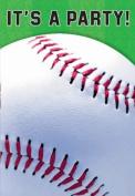 Baseball Folded Invitation