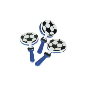 Lot of 12 Soccer Clappers Party Favours Game Noisemaker Clacker