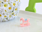 Mini Plastic Rocking Horse - Pink