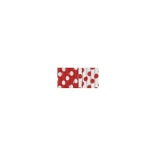 Paper Straws 10/Pkg-Ruby Red Decorative Dots