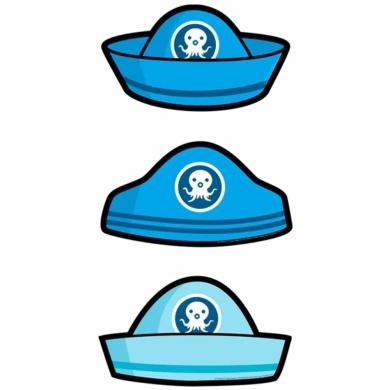 Amscan International Octonauts Card Hats (Pack of 6)