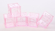 Adorable Baby Girl Pink Acrylic Alphabet Fillable Baby Blocks- For Showers, Decorating and More- 24 Total Blocks