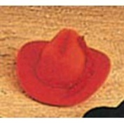 Miniature Red Flocked Cowboy Hats with Rope Trim- Package of 12