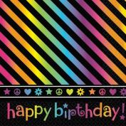 Neon Birthday Luncheon Napkins