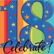 Year To Celebrate 18th Napkin