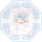 Amscan International Tiny Blessings Blue 17.7 cm Paper Plates, Pack of 8