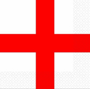 Amscan St Georges Day Luncheon Napkins