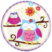 Owl Blossom Dessert Plates (8) Party Supplies