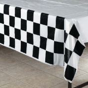 Black & White Chequered Tablecover