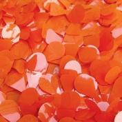 Orange Vinyl Floral Sheeting