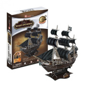 Queen Anne's Revenge, 155 Piece 3D Jigsaw Puzzle Made by CubicFun 3D Puzzle