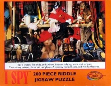 I Spy 200pc. Riddle Jigsaw Puzzle Orange Border