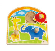 Hape E1302 At the Zoo Knob Puzzle